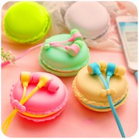 Wholesale Cute Girl Headphones - Nice Cute Macarons Earbuds Candy Color Girls in-ear Earphones for iPhone Samsung Xiaomi for MP3 Player MP4 Mobile Phone Headphones