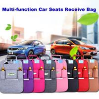 Wholesale Backseat Organizer - 7 Colors New Auto Car Seat Organizer Holder Multi-Pocket Travel Storage Bag Hanger Backseat Organizing Box
