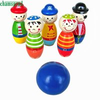 Wholesale CHAMSGEND Modern Children Toys Wooden Bowling Ball Skittle Funny Shape for Kids Game Drop Shipping F21