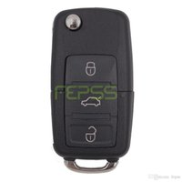 Wholesale Volkswagen Keyless Entry - 1K0 959 753 G Folding Flip Key Keyless Entry Remote Transmitter For VW VOLKSWAGEN SEAT 3 Button 434MHZ With ID48 Chip