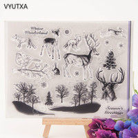 Vente en gros - Animaux forestiers Transparent Clear Silicone Stamp / Seal pour DIY scrapbooking / album photo Decorative clear stamp sheets