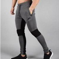 Wholesale Workout Cloths - 2017 Men's Pants Workout Cloth Sporting Active Cotton Pants Men Jogger Pants Sweatpants Leisure fitness pants.