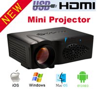 Venta al por mayor-CT37 Wifi inalámbrico Home Theater 1800lumens EZCast LCD LED Mini Proyector HD 1080P Proyector 3D para Mac IOS Android teléfono móvil