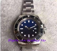 Wholesale Sapphire Sea Crystal - DEEP 44mm automatic 2836 men watch V6S noob 116660 CERAMIC 12800ft 3900m sapphire crystal sea dive bezel V7