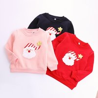 Wholesale Top Baby Girls Christmas Gifts - Wholesale- Baby Boys Girls Clothes Sweatshirts Christmas Cartoon Pattern Pullover Winter Warm Children Kids Tops Costume Gift