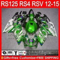 aprilia rsv weiße verkleidungen großhandel-Grüne weiße Einspritzung für Aprilia RS4 RS125R RS 125 2012 2013 2014 2015 RS-125 72NO44 RSV125 12-15 RS125RR RSV 125 RS125 12 13 14 15 Verkleidung