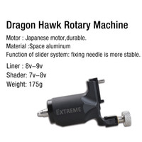 Wholesale Aluminum Rotary Tattoo - High quality Black rotary tattoo machine gun with Space aluminum durable Japanese motor liner and shader WQ080