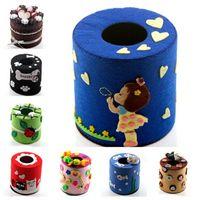 Wholesale Wholesale Bucket Seats - Wholesale- 8 Design Table Paper Tissue Box Cloth Art Paper Towel Box Diy Package Paper Towel Bucket