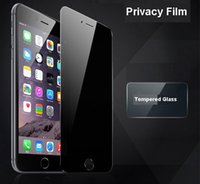 Wholesale Cover Lcd Iphone - Privacy Tempered Glass Screen Protector LCD Film Screen Guard Cover Shield For iPhone 7 6s 6 5s Plus