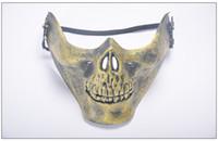 ordre des masques achat en gros de-Brand New Hot Field Masque Crâne Halloween Full Face Protection Horreur Masque Party Party PH020 ordre de mélange selon vos besoins