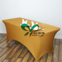 Wholesale Cheap Polyester Table Covers - Cheap Price Rectangular Lycra Spandex Table Cover \ Tablecloth For Wedding Decoration