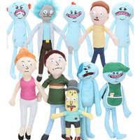 Nuovi giocattoli della peluche di Meeseeks di One-Eye 10pcs 20-30cm Rick e Morty cadono Mr Dolls di animale molle morbide molli per il regalo dei capretti di Poopybutthole Jerry Smith