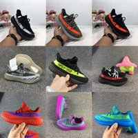 Wholesale Canvas Flats Shoes Kids - 2017 New Kids Youth Children Kanye West Sply 350V2 Boost Shoes Comfort Outdoor Running Sporting Athletic stripe 350 v2 Shoes