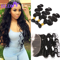 Wholesale Vip Malaysian Hair Weave - Malaysian Body Wave with Frontal Closure VIP Beauty Malaysian Virgin Hair Bundles with Full Lace Frontal Moda Human Hair Weave