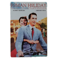 Wholesale Roman Posters - Roman Holiday Vintage Metal Tin Signs Funny Retro Art Poster Man Cave Bar Pub Home Wall Decorations Plaque
