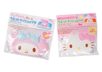 Wholesale Kitty Car Seat Covers - Wholesale- (5 Pcs Lot) Hello Kitty My Melody Car Room Wet Wipes Tissue Reusable Lid Cover