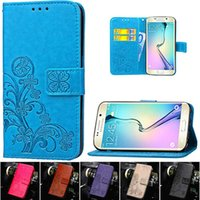 Wholesale Galaxy S3 Orange Case - For Samsung Galaxy S6 S7 Edge Grand Prime J1 Mini S4 S3 S5 A5 A3 2016 J5 J3 Flip Wallet Leather Case For iPhone 5 5S 6S 6 7 Plus