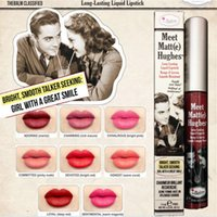 Wholesale E Lips - 12 Colors Makeup Matte Lip Gloss Meet Matt(e) Hughes Long Lasting Liquid Lipstick Sexy Red Brand Non Stick Cup Lips Stick