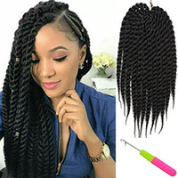"Wholesale 18 Crochet - 18"" 107g pack Havana Mambo Twist Crochet Braid Hair 12'' 66g pack Synthetic crochet braids senegalese Twists Crochet Braiding Hair Extension"