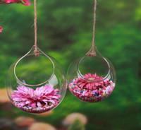 ingrosso piante di terrario-5 Pz Fiori Palla hangin vaso di vetro vaso piante d'aria terrario appeso vasi di vetro per la decorazione domestica piante verdi regali di nozze 2017