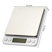 Wholesale Food Smart - Mini Kitchen Electronic Smart Weighing Weigh Scale Stainless Steel Backlight With 2 Trays Jewelry Food Herbs 0.5-3kg Digital Scale Body