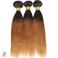 Wholesale 6a ombre hair weave for sale - Two Color T1B Virgin Brazilian Ombre Hair Weave quot Brazilian Human Remy Hair Extension a Unprocessed Double Weft Hair