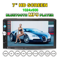 Wholesale Fastest Audio Player - 7 Inch 2 DIN Bluetooth HD Car Stereo Audio MP5 Player with Card Reader FM Radio Fast Charge Support USB   AUX   DVR CMO_21Y