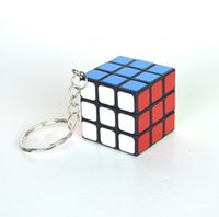 Wholesale Rubik Key - 3*3*3 Key Chain Cube Mini Magic Rubik Cube Key Ring Puzzle Key Chains Relieves Stress Toy Halloween Christmas Gift Bag Decor Wholesale