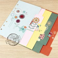 Wholesale Illustration Notepad - Wholesale- Jamie Notes Notebook Planner Accessories Cartoon Illustration Dividers Inner Page Bookmark for Filofax Gift Stationery 5pcs Set