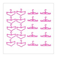 Wholesale Dressing Furniture - Doll Accessories Barbie Dolls Hangers Pink Plastic Hangers Fit For 11.5 Inch Barbie Dolls Clothes Display Holder Barbie Doll Clothes Dress