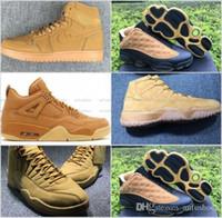Wholesale Mens Runing - Retro Wheat Basketball Shoes Retros 4 5 11 12 13 2017 Men Sneakers Mens Psny Athletic Sports Replicas Shoe Sale Size 7-13