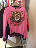 Wholesale G Double Neck - Famous luxury italian CC brand G Female Sweaters knitwear Tiger Head designer sleeveless Loose hoodies sweatshirt Primer shirt fit for women