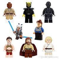 Wholesale Mace Wholesale - PG8028 Star Wars Luke Skywalker Qui-Gon Jinn Death Star Robot Mace Windu Padme Naberrie Bricks Building Blocks 8pcs set