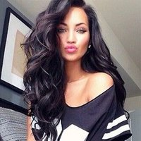 Wholesale Brown Hair Celebrities - High ponytails super wavy 150%density synthetic hair front ace wig black woman black hair Celebrity hair wig Freeshipping