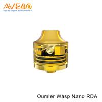 Wholesale nano electronics - Authentic Oumier WASP NANO RDA 22MM Bottom Filling Rebuilding Electronic Cigarette Atomizer VS OUMIER Gragas RDTA 4ml Tank
