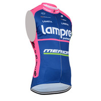 Wholesale Tour France Vests - New summer Cycling Vest Tour de France Cycling Jersey Men Sleeveless bicycle Clothing Breathable MTB Bike Maillot Lampre cycling Gilet