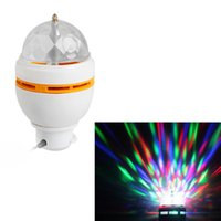 Atacado- 3W Portátil Auto Rotating LED Bulb Palco Luz Partido Lâmpada Disco Baixo Calor Home Magic Ball Stage Efeito Light Com Interface USB