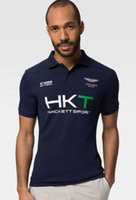 Uomo in Inghilterra Stile Uomo HKT Sport Casual Polo London Hackett Racing Polos Cotone Uomo British Polo T-Shirts