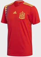 Wholesale Russia Teams - spain national team soccer Jerseys 2018 Russia WORLD CUP home MORATA ISCO ASENSIO RAMOS FOOTBALL shirts
