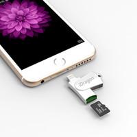 lecteur de carte microsd sd achat en gros de-Lecteur de carte Micro SD TF OTG de qualité Lecteur de carte mémoire Microsd USB 2.0 pour iPad Mini Air Pro pour iPhone 7 6S 6 Plus 5S 5 SE PC