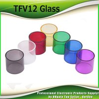 Wholesale E Cig Covers - Smok TFV12 Glass Tube Cover Replacement Pyrex Glass Parts For Original SmokTech TFV12 Beast King Tank 6ML E Cig DHL Free 2244010
