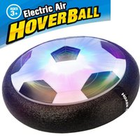 Wholesale Elephant Ball - Kids LED Air Power Soccer Football Boys Girls Sport Children Toys Training Football Indoor Outdoor Disk Hover Ball Game with Foam Bumpers