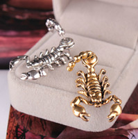 Wholesale Male Earring Pierce - The European and American fashion earrings The scorpion male and female stud earrings earrings Personality piercing jewelry