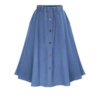 Distributors of Discount Elastic Waist Denim Skirts | 2017 Toddler ...