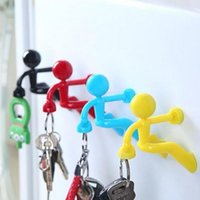 Creativo Magnetic Wall Mount Man Keys Gancho Magnetic Multi Color Llavero Titular Imán Rack Hanger Hanger Nevera Decoración de la puerta