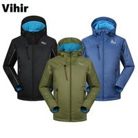 Wholesale Mens Waterproof Hiking Jacket - Vihir Mens Outdoor Winter Jackets Hiking Waterproof Hooded Pullover Mens Windbreaker Jacket S-XXL for Camping Sports