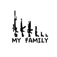 Wholesale Funny Car Graphics - Cool Graphics My Gun Family Bumper Sticker Window Funny Decal Vinyl Car Accessories Decorative JDM