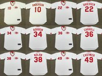 Wholesale Dry Red Clay - Cincinnati Reds Men's SPARKY ANDERSON DAN DRIESSEN PEDRO BORBON CLAY CARROLL GARY NOLAN RAWLY EASTWICK Throwback Baseball Jerseys Stitched