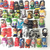 """Wholesale Heroes Marvel Comics - Random 10X 1.5"""" Ooshies Pencil Toppers Figure Marvel Heroes DC Comics Popular Kids Toy Free Shipping CA51"""