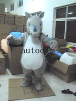 Wholesale Mascot Outfits - Rhino unicorn mascot costume for adults christmas Halloween Outfit Fancy Dress Suit Free Shipping